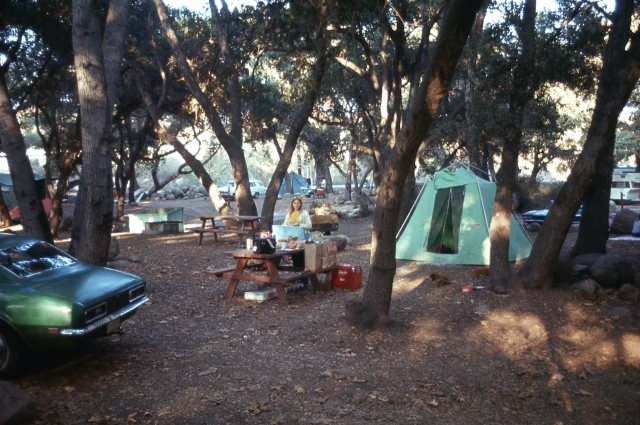 Sally and I did a lot of camping, mostly at Lake Casitas, CA